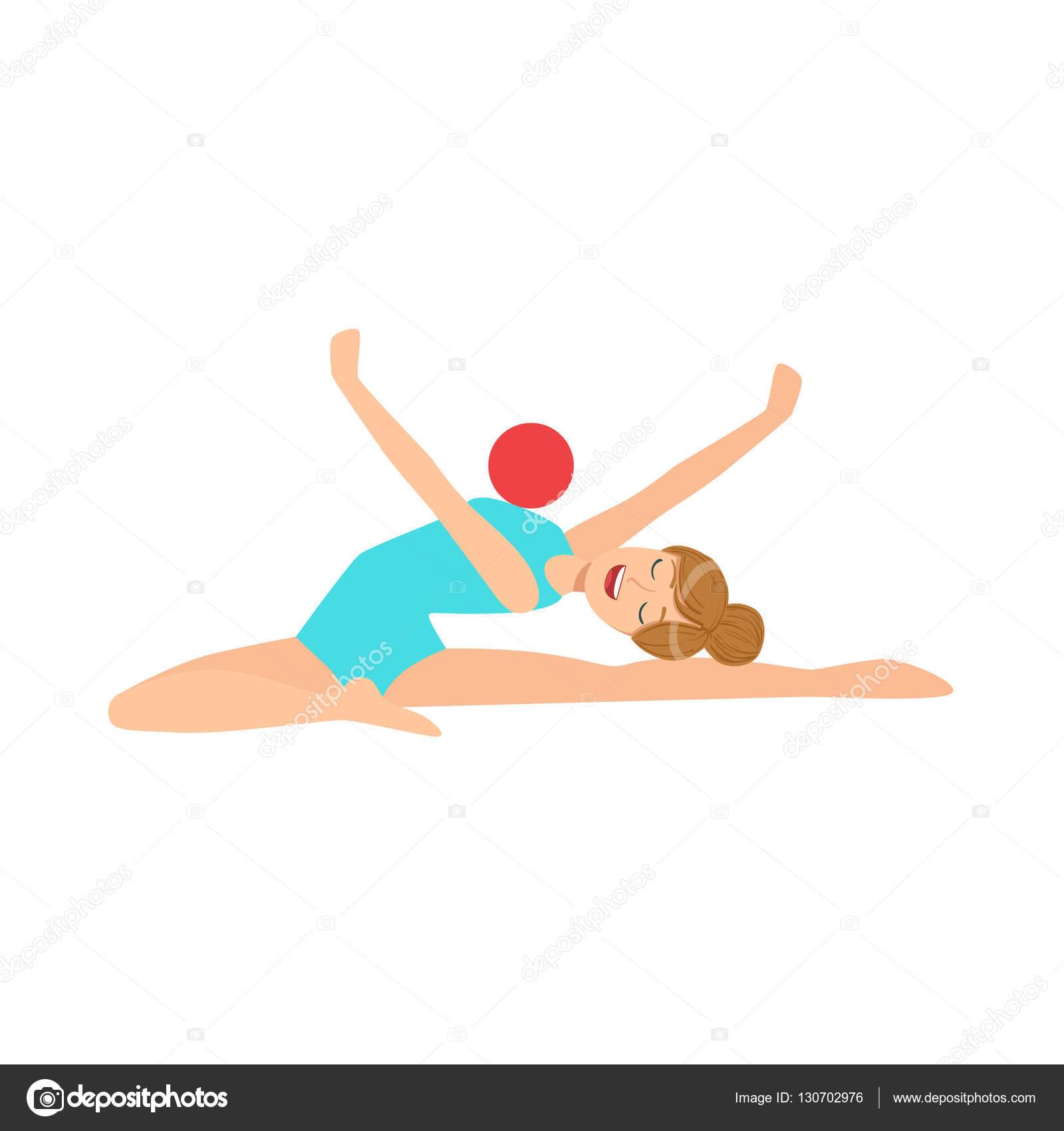 b85d84431 Esportista profissional de ginástica rítmica de collant azul ...