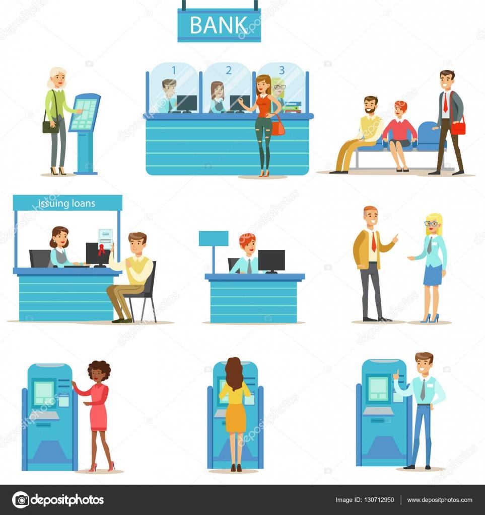銀行のサービスの専門家とクライアントの異なる財務コンサルティング