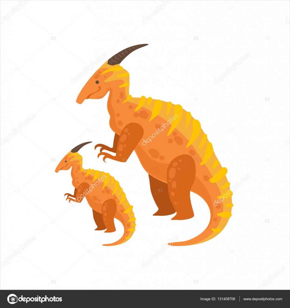 Parasaurolophus Dinosaurier prähistorische Monster paar ähnliche ...