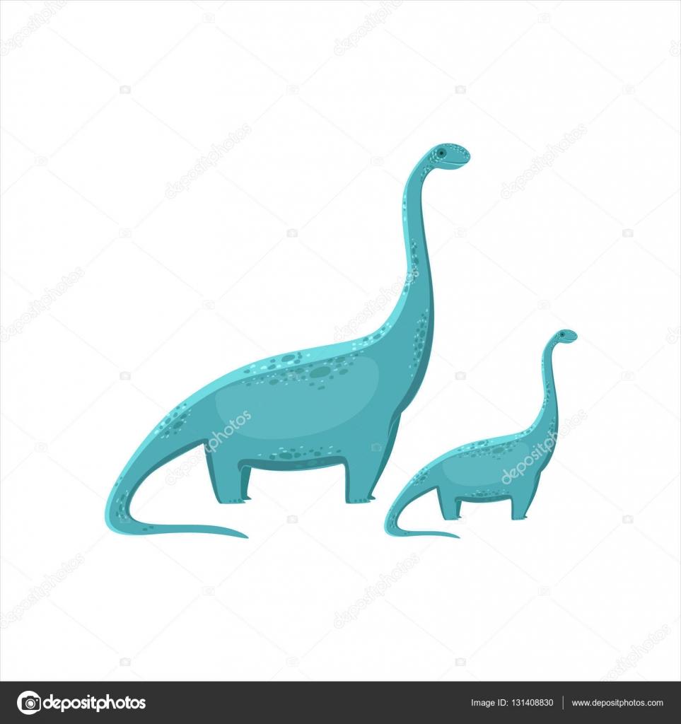 Blaue Brahiosaurus Dinosaurier prähistorische Monster paar ähnliche ...