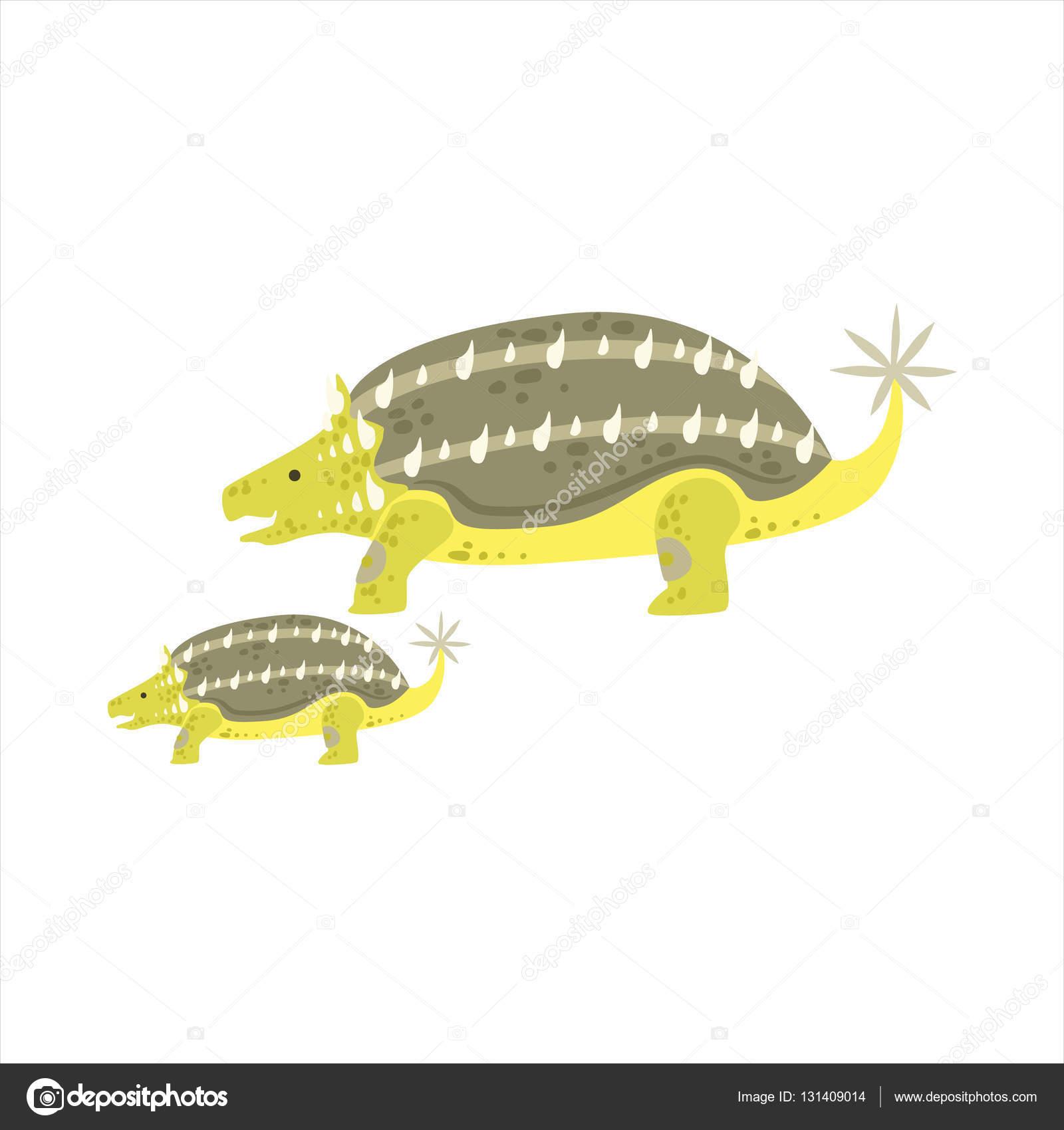 Ankylosaurus Dinosaurier prähistorische Monster paar ähnliche Probe ...