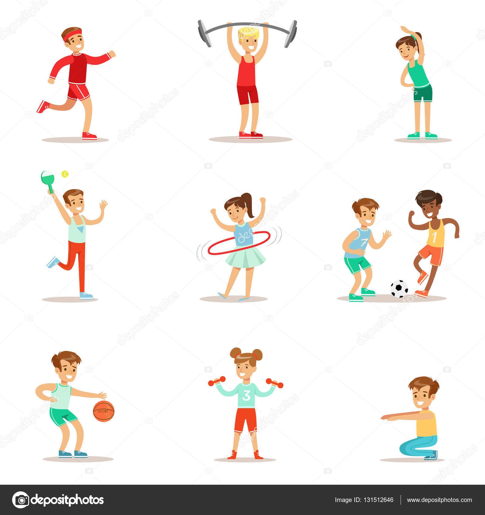 Magnifiek Kinderen die het beoefenen van verschillende sporten en fysieke &YE83