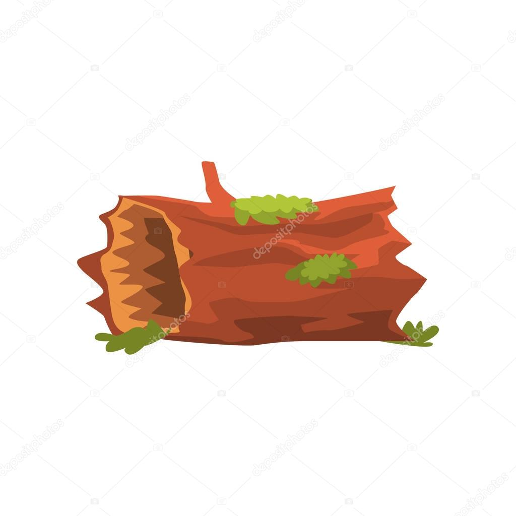 Moldering Swamp Log Isolated Element Of Forest Landscape Design For The Flash Game Landscaping Purposes
