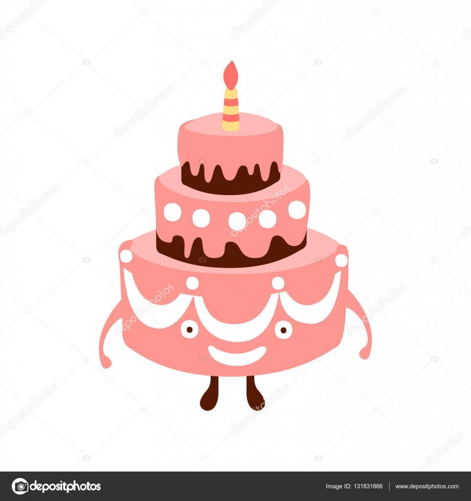 Große Torte mit einer Kerze Kinder Geburtstag Party Attribut ...