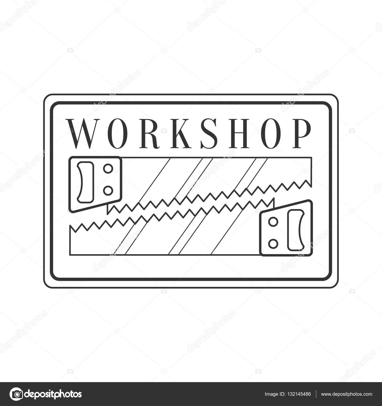 Handsaws In Square Frame Premium Quality Wood Workshop Monochrome ...