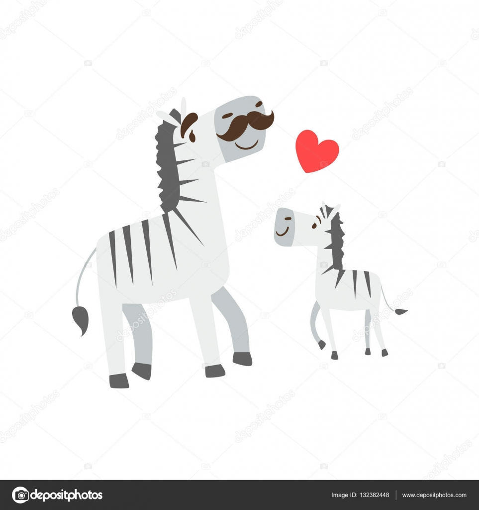Carino zebra cartone animato carino vettore zebra