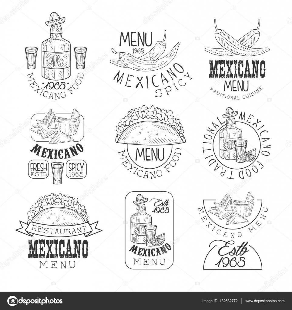 Conjunto de plantillas de diseño signo blanco y negro dibujado a ...