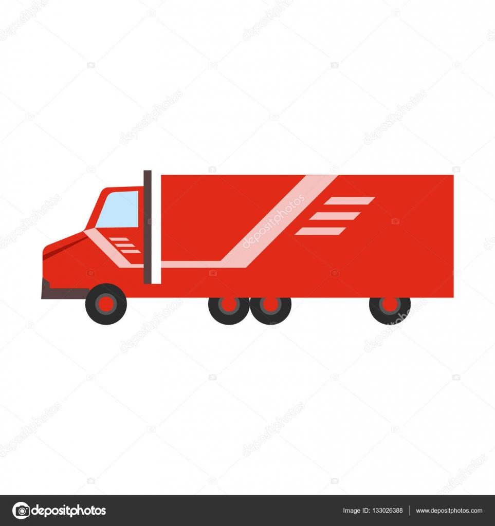 soci t de services de livraison rouge longue distance camion livraison livraison image. Black Bedroom Furniture Sets. Home Design Ideas