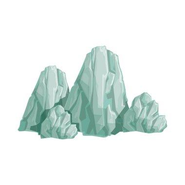 Range Of Grey Rocks Natural Landscape Design Element, Part Of Scenery In Nature Landscaping Constructor