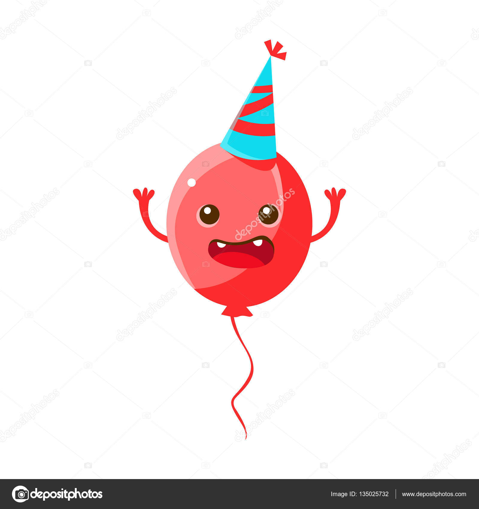 Balloon Wearing Party Hathappy Birthday And Celebration Party