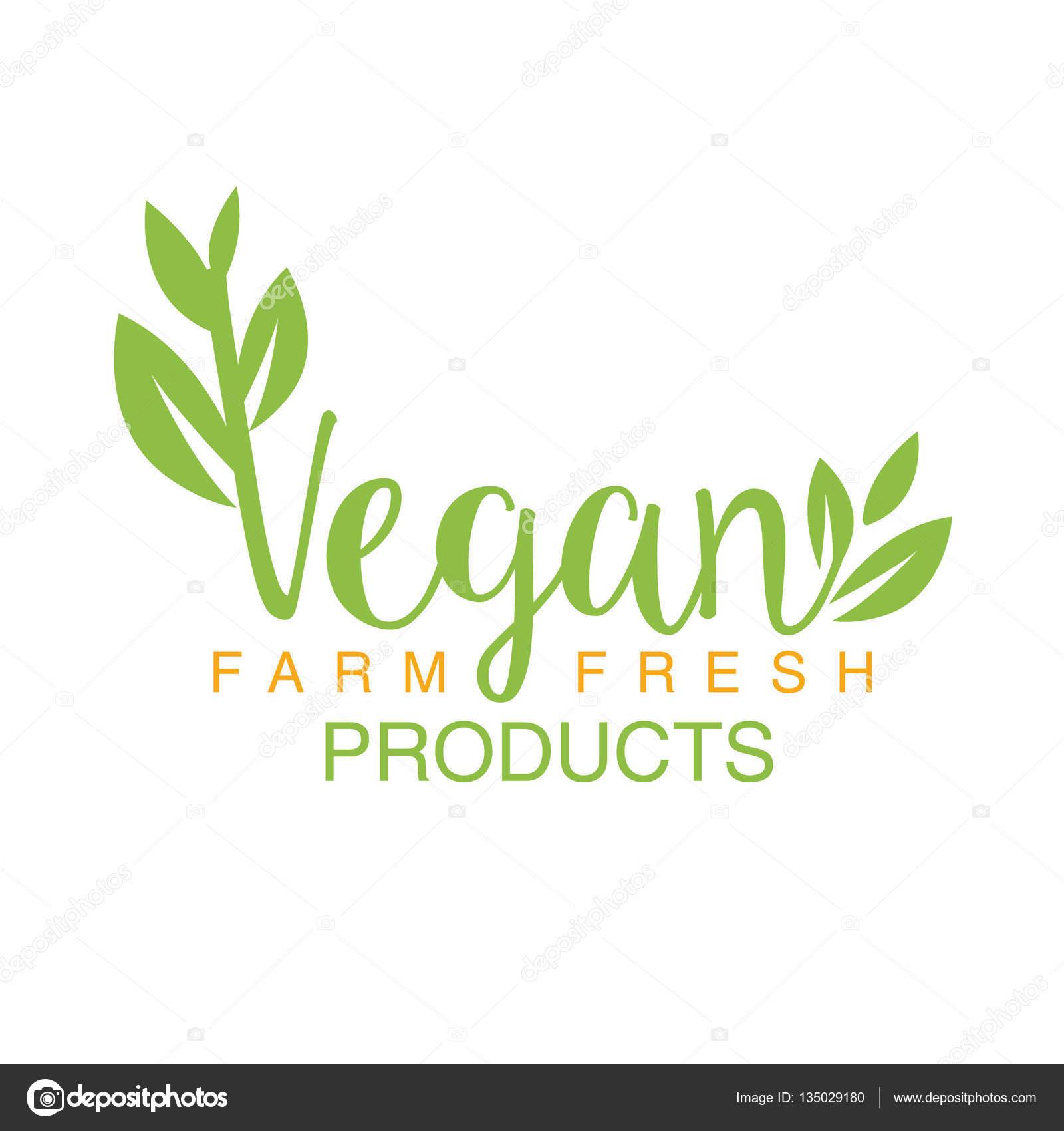 健康的なライフ スタイルとエコプロダクツ推進ビーガン自然食品緑ロゴ