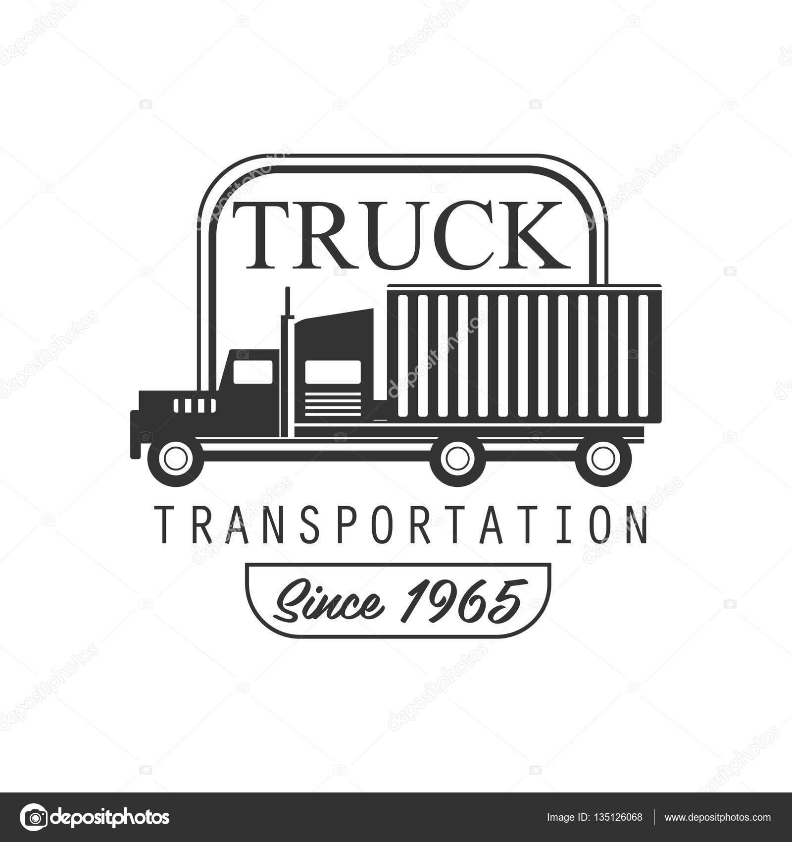 Plantilla de diseño pesados camiones empresa Club Logo blanco y ...