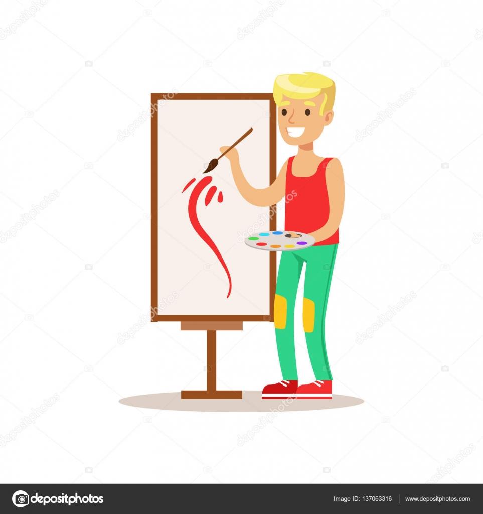 Junge Malerei, kreative Kind üben Kunst im Kunstunterricht, Kinder ...