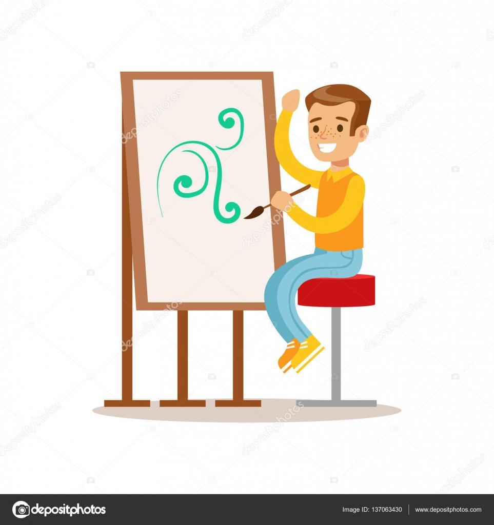 Ni o dibujo ni o creativo practicar artes en ilustraci n - Ninos en clase dibujo ...