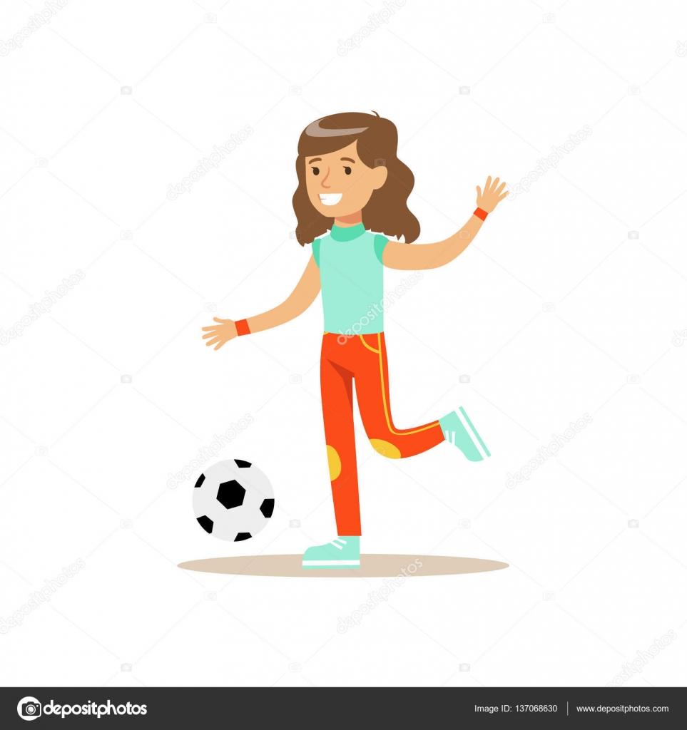 Dibujos Sobre Educacion Fisica Chica Jugando Futbol Kid