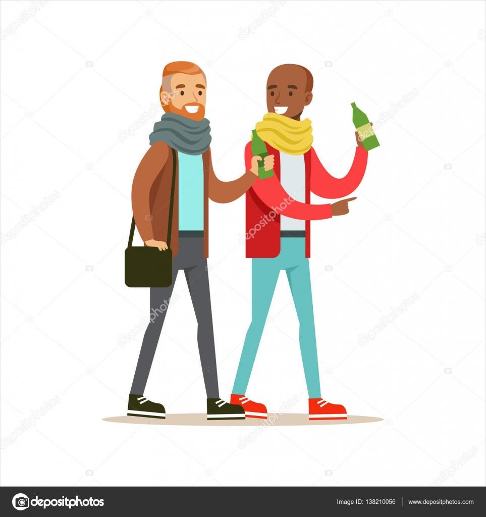 Felizes melhores amigas, tomar uma bebida depois do trabalho, parte da  série de ilustração 922d8bbc59