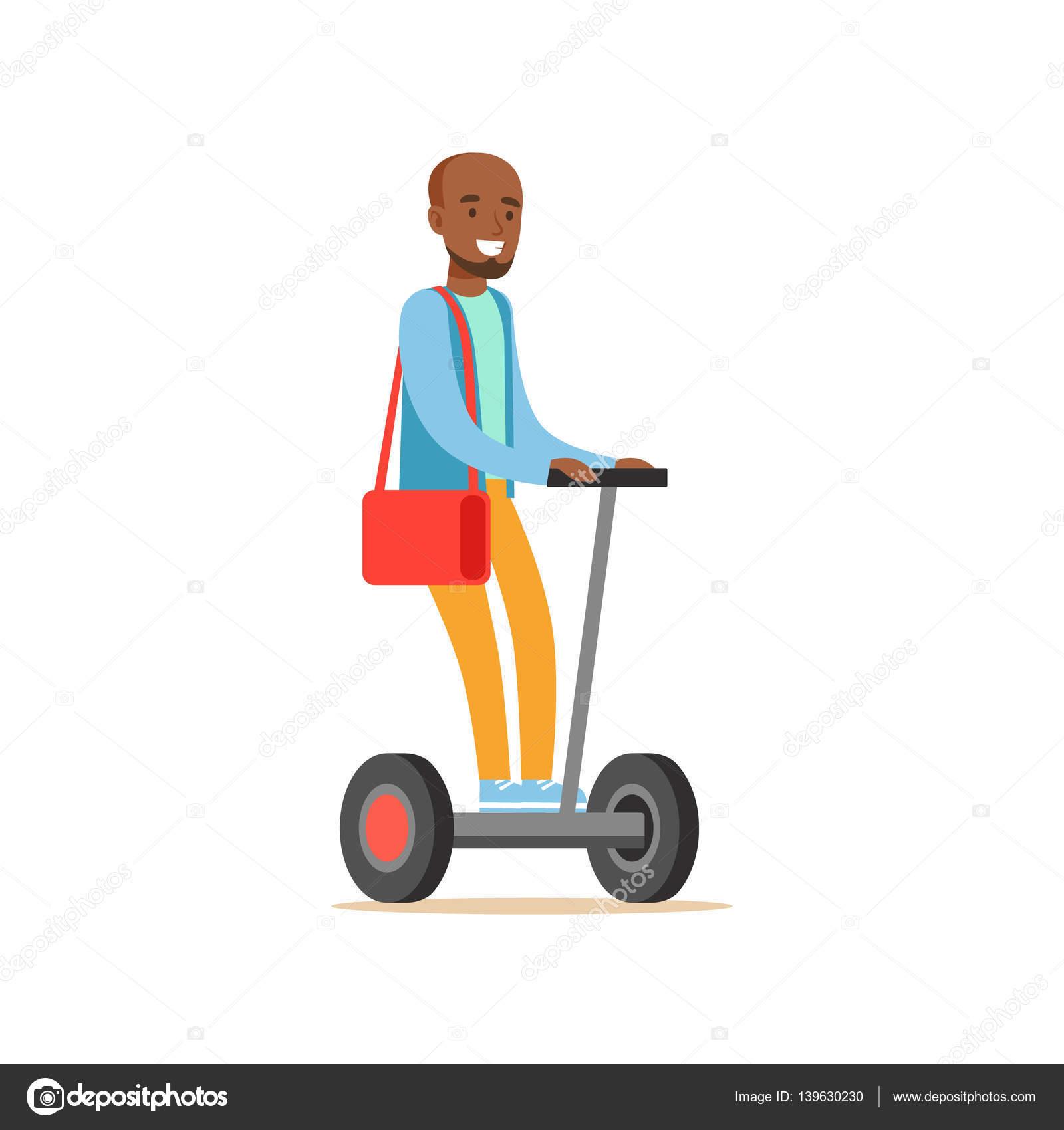 Uomo di colore in maglione blu elettrico alimentato a batteria