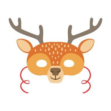 Deer Animal Head Mask, Kids Carnival Disguise Costume Element