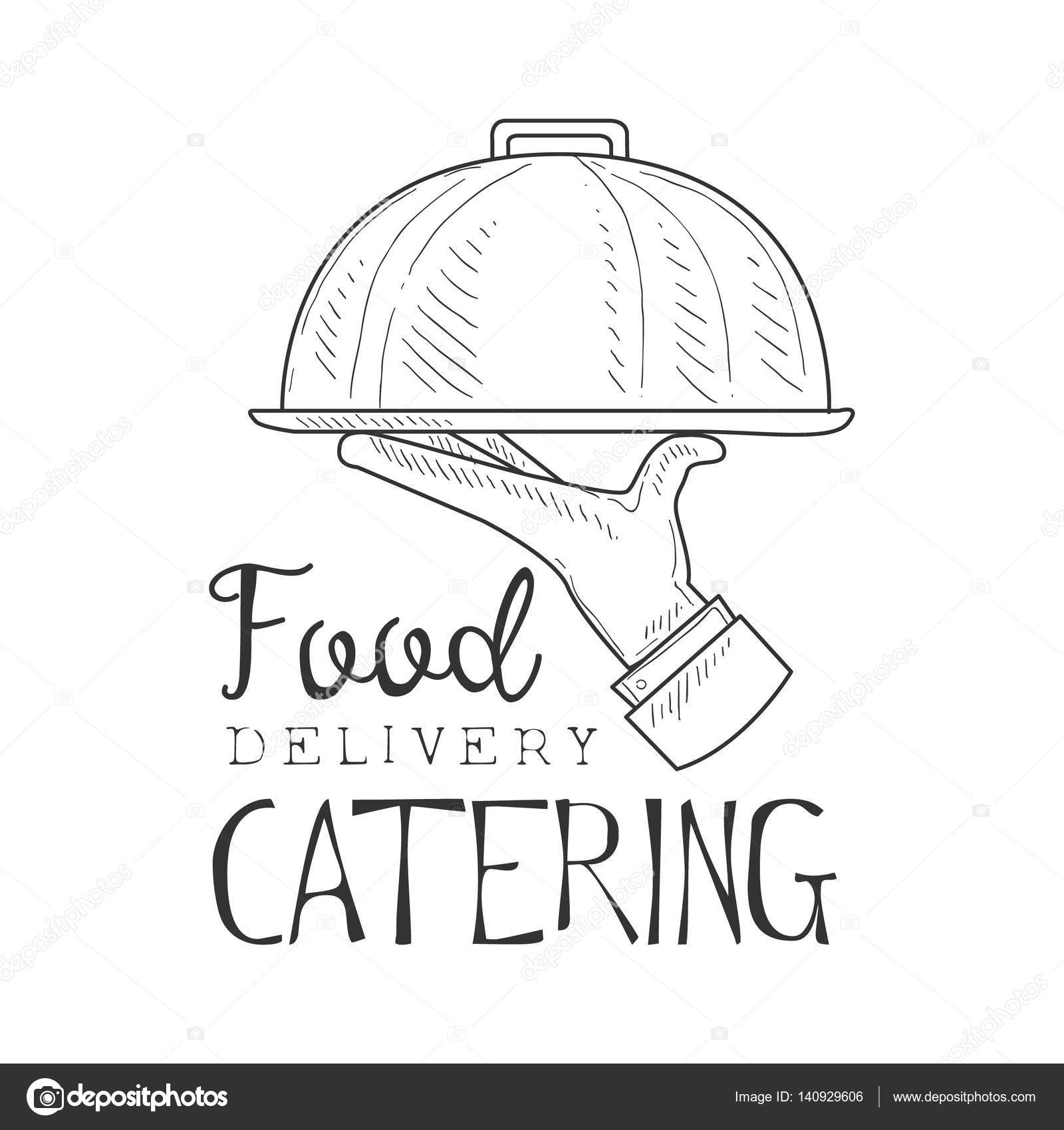 Best catering food delivery service hand drawn black and for Best catering