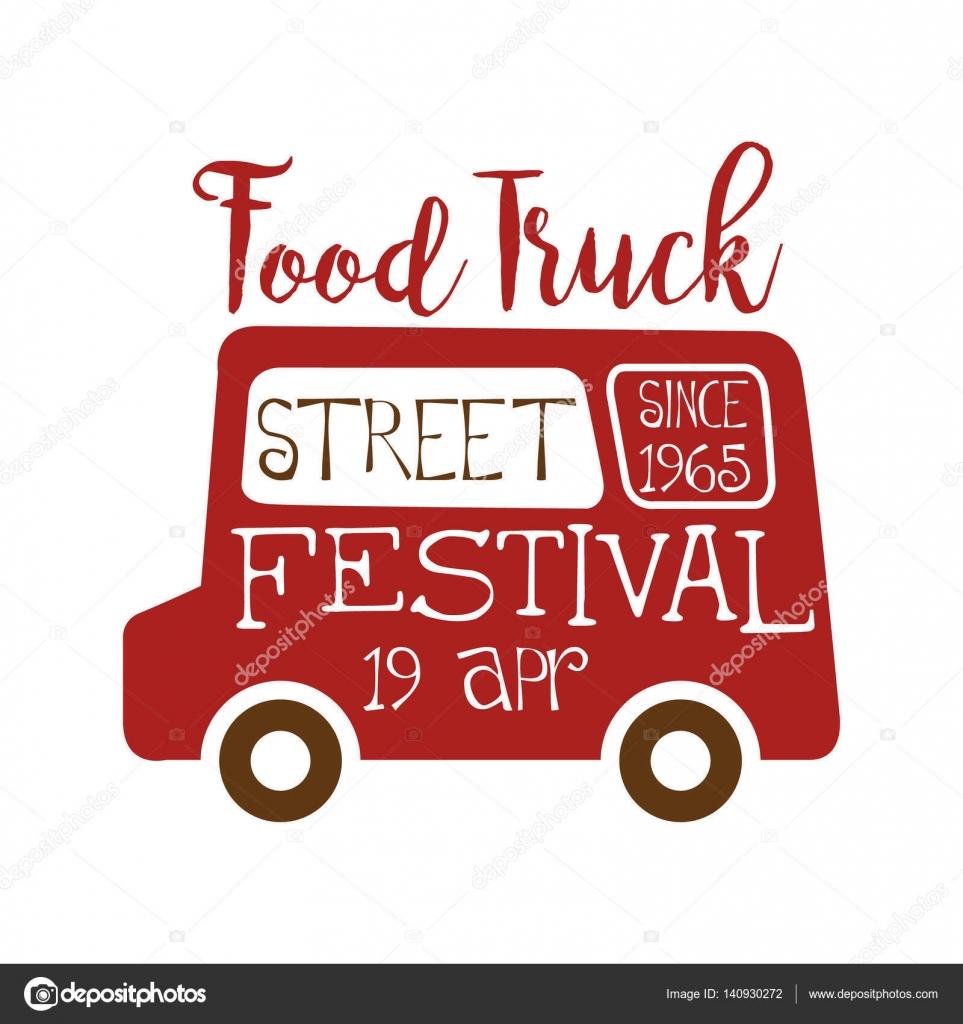 Lebensmittel Truck Cafe Essen Festival Promo Straßenschild, bunten ...