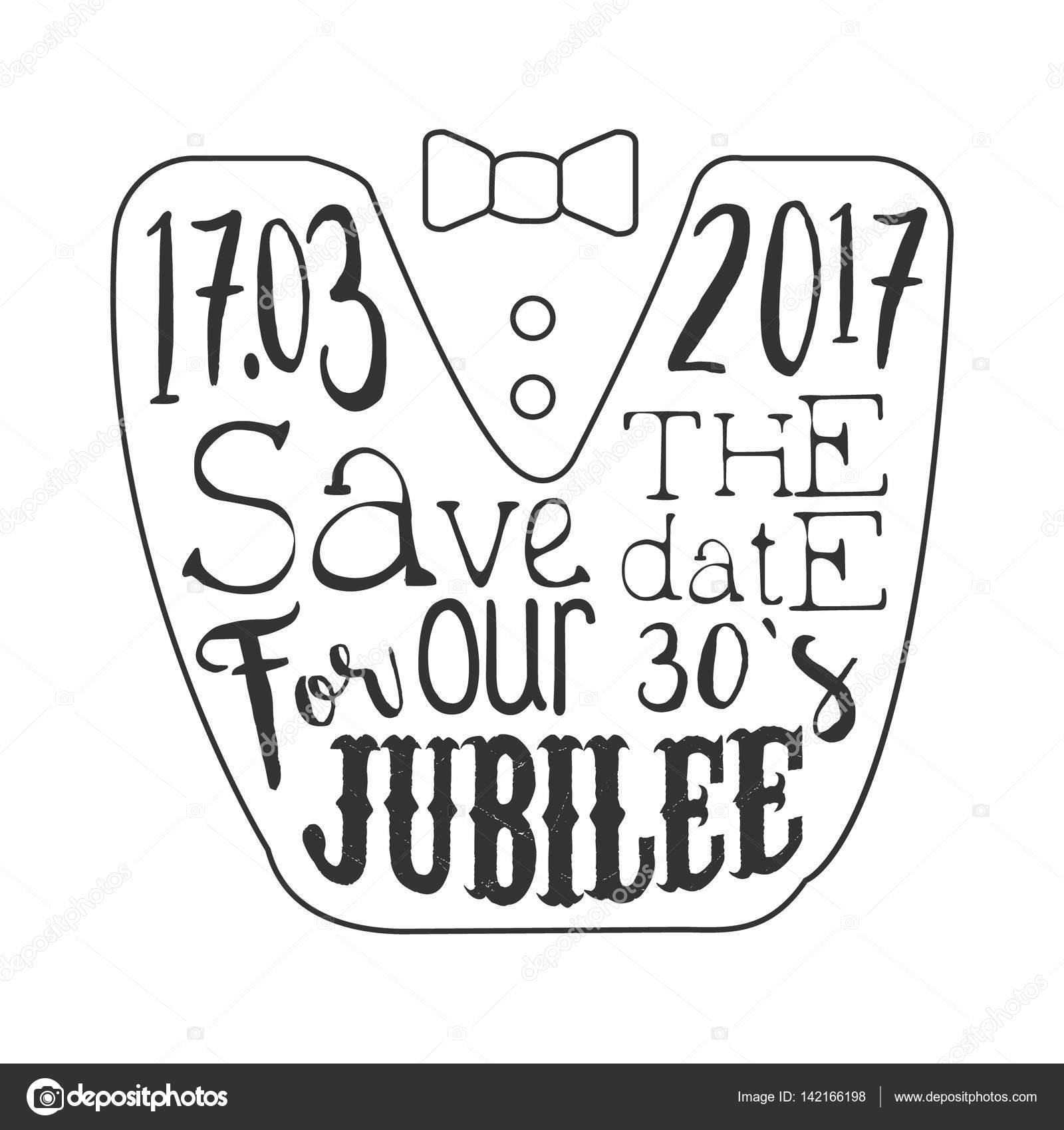 Thirty years jubilee black and white invitation card design thirty years jubilee black and white invitation card design template with calligraphic text stock vector stopboris Gallery