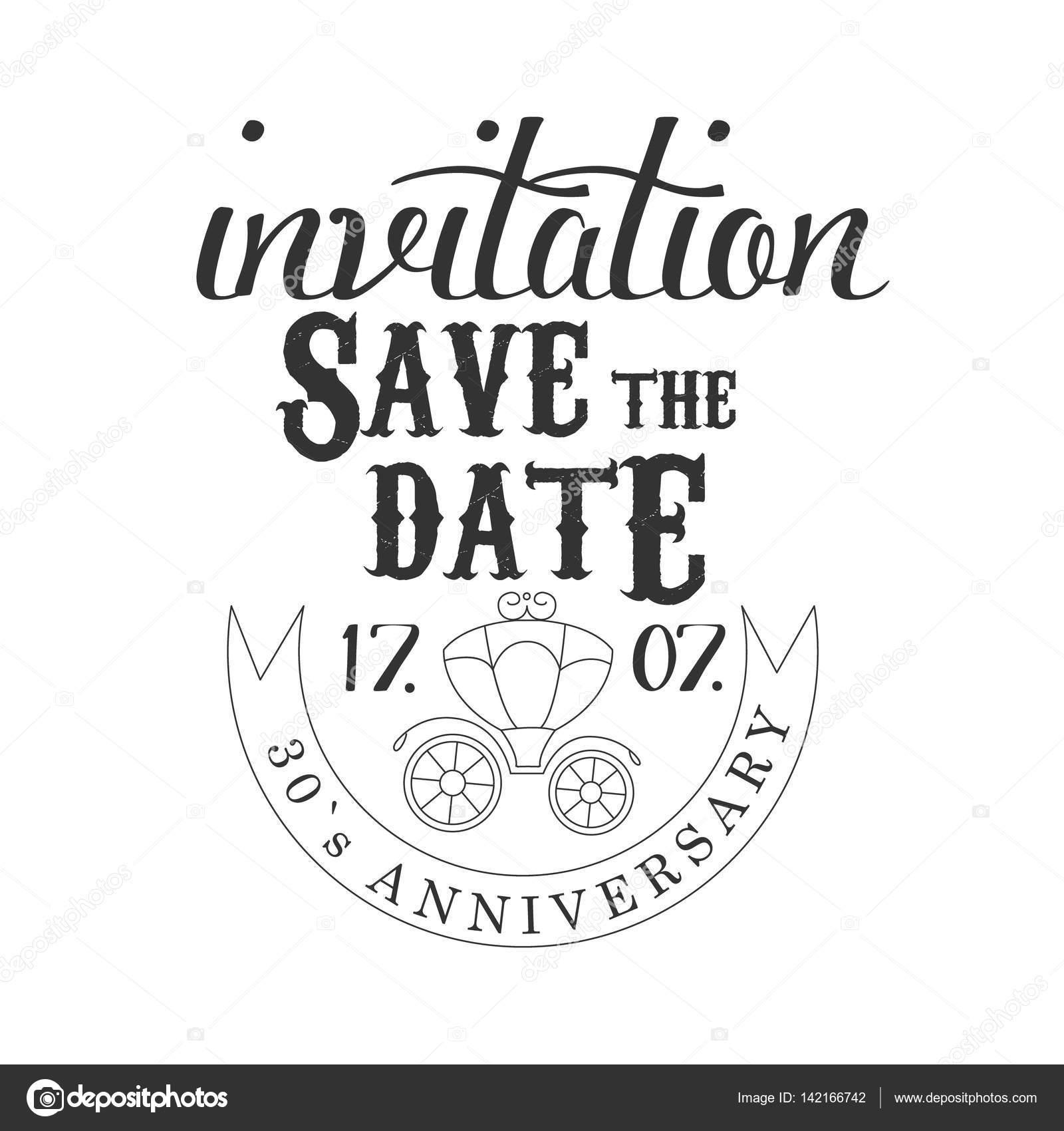 Verjaardag Partij Zwart Wit Uitnodiging Kaart Ontwerpsjabloon Met
