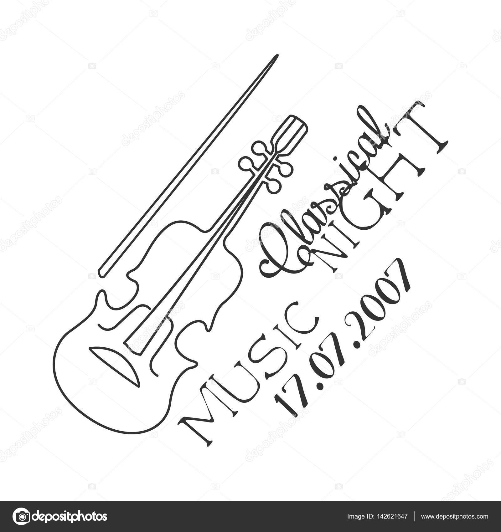 Muzyka Klasyczna Na żywo Koncert Czarno Biały Plakat Z