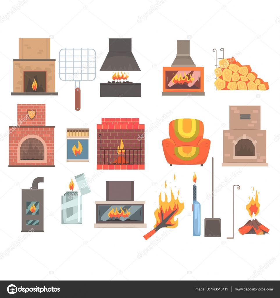 Indoors and outdoors fireplaces and bonfires with related for 10 objetos del salon en ingles