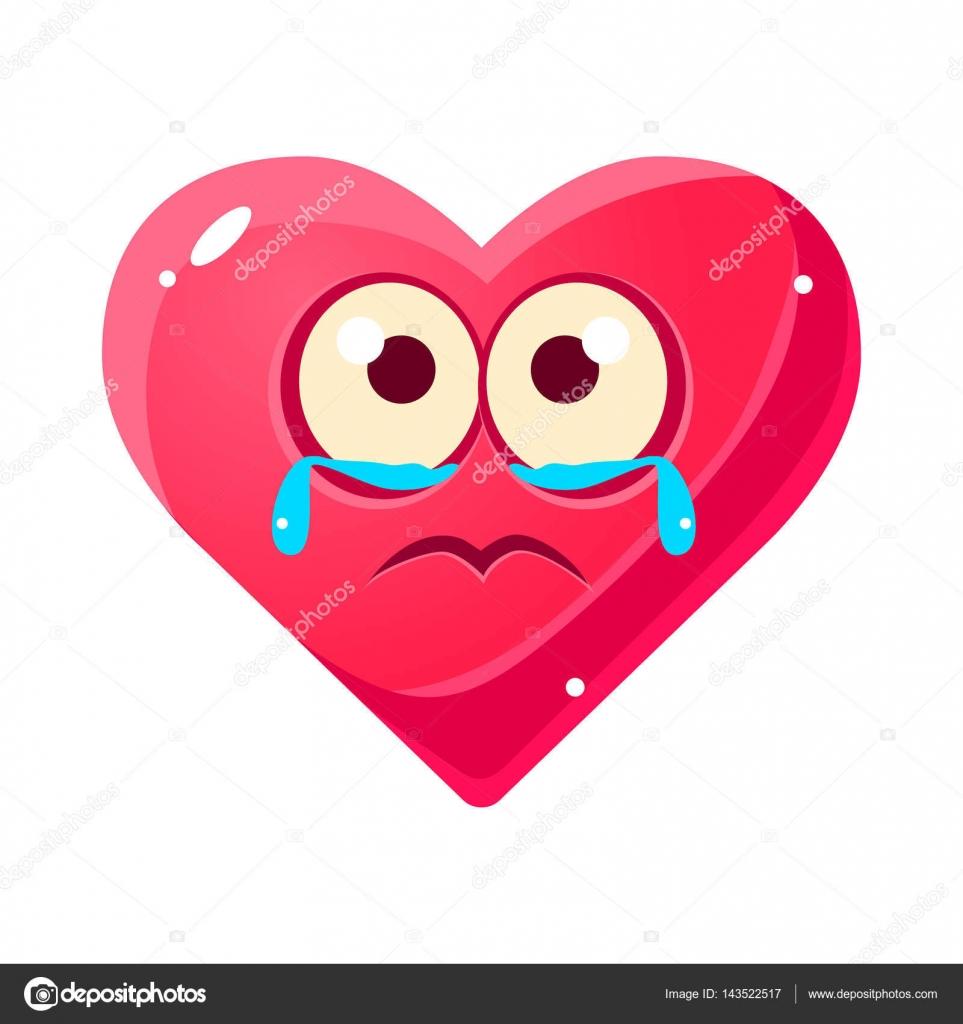 pleurs boulevers emoji coeur rose expressions faciales motionnelles icne isol avec amour symbole emoticon personnage de dessin anim
