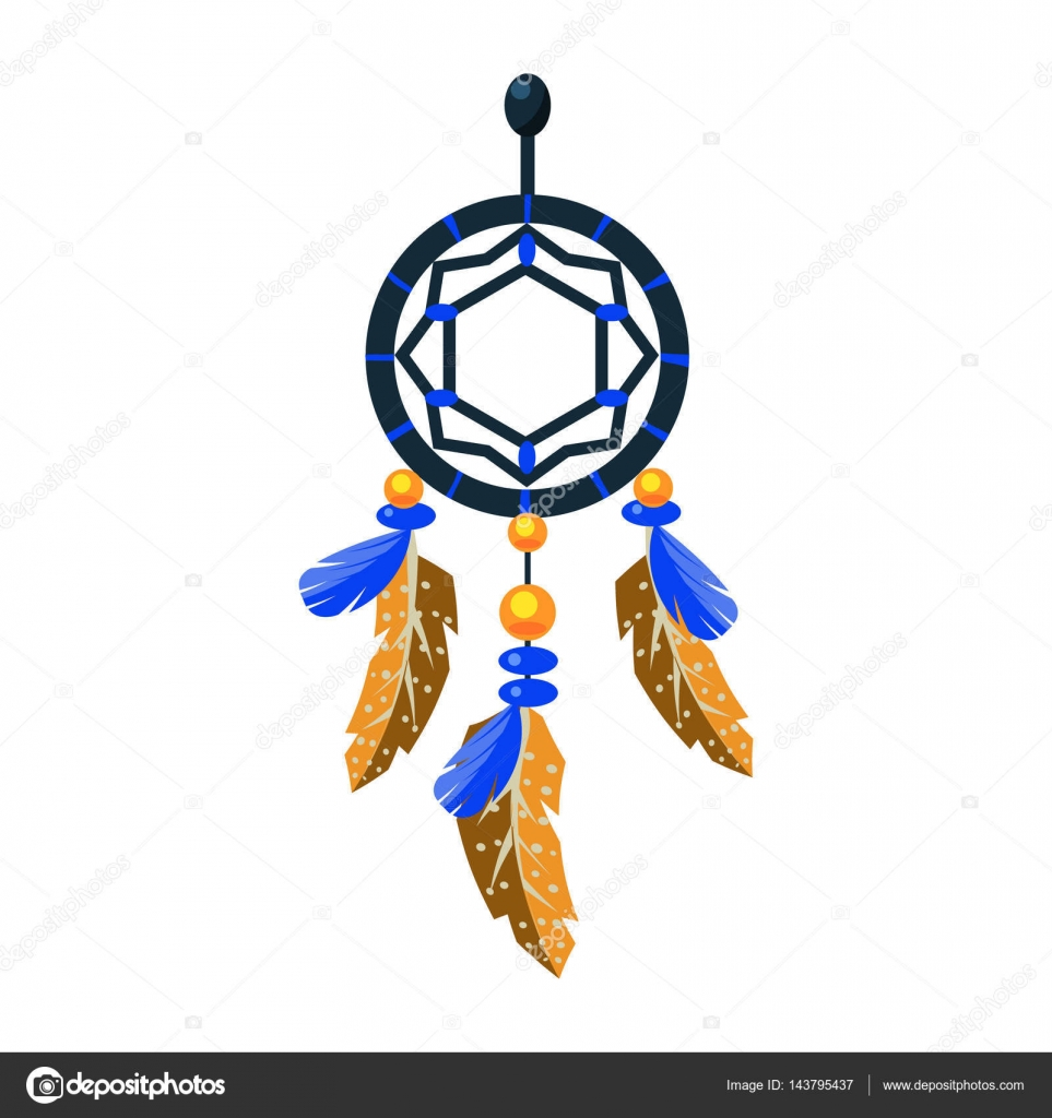 decorated dreamcatcher charm native american indian culture
