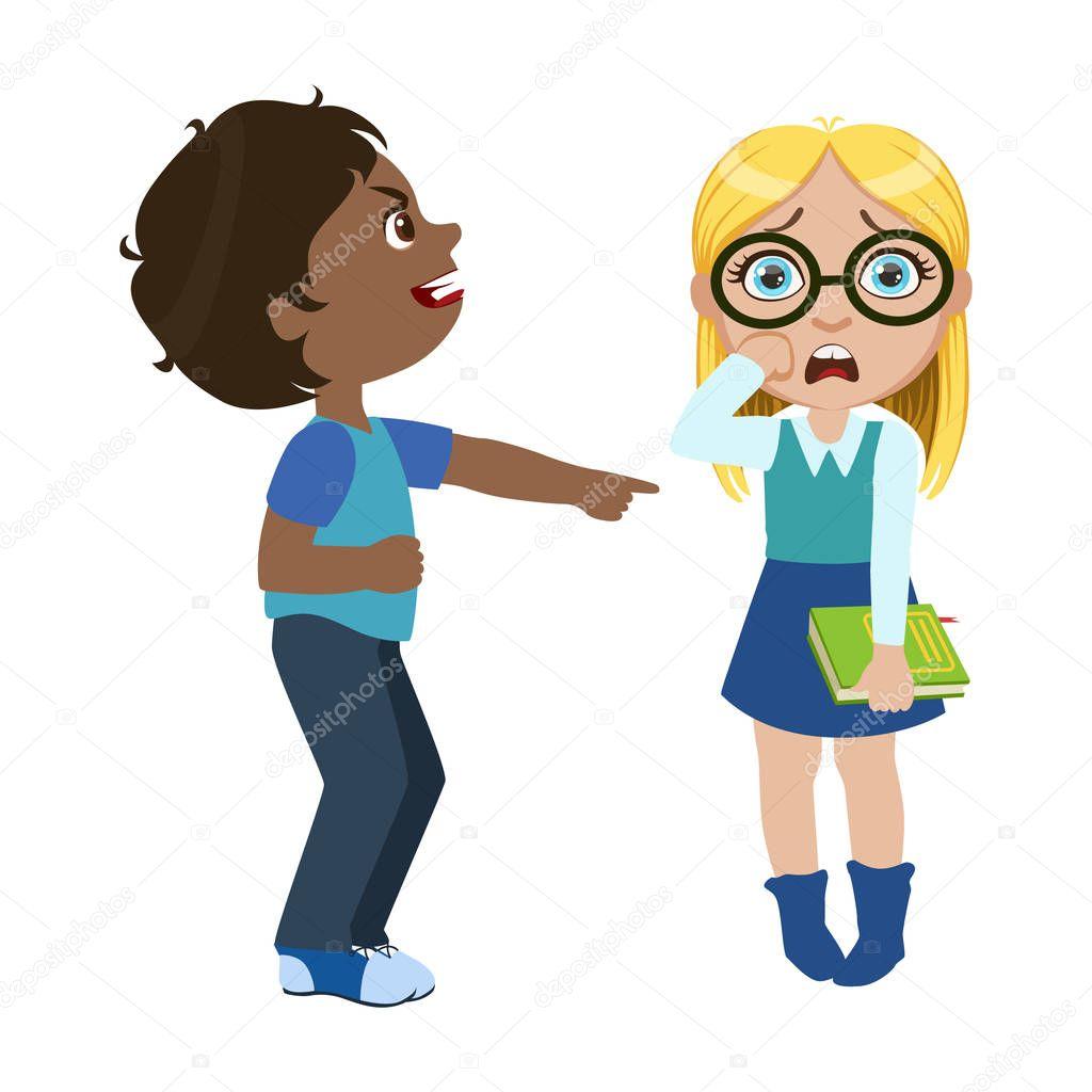 Imágenes: chicos malos | Chico burlándose de una chica ...