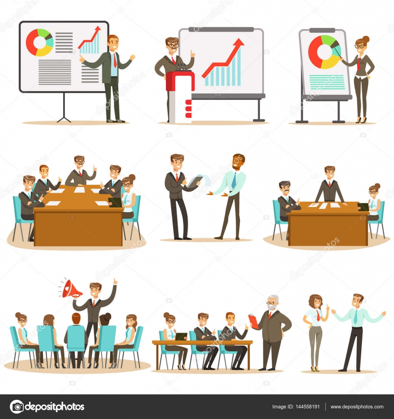 Directivos y trabajadores de oficina de negocios clase de ...