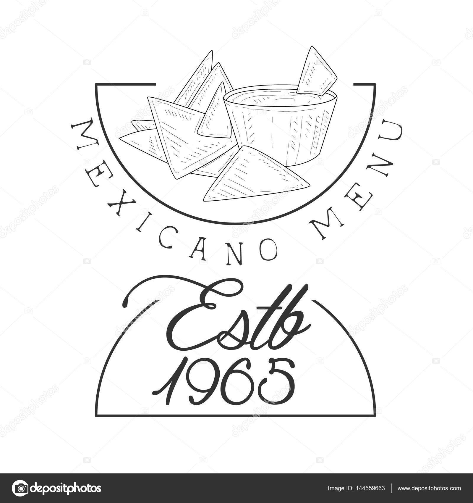 Mexikanisch Essen Menü Promo anmelden Skizze Stil mit Nachos und ...