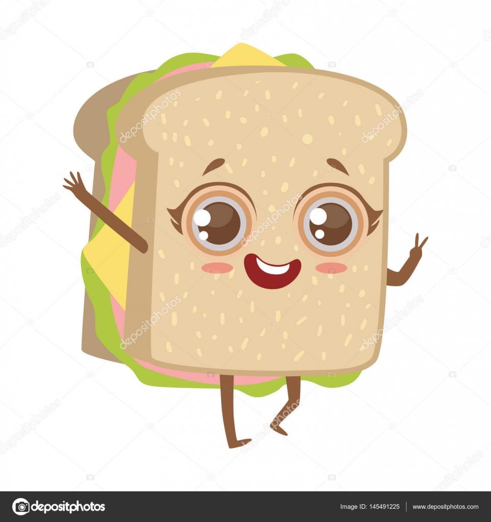 anime lindo sandwich humanizado car u00e1cter emoji vector cheese pizza slice clipart cheese pizza clipart black and white