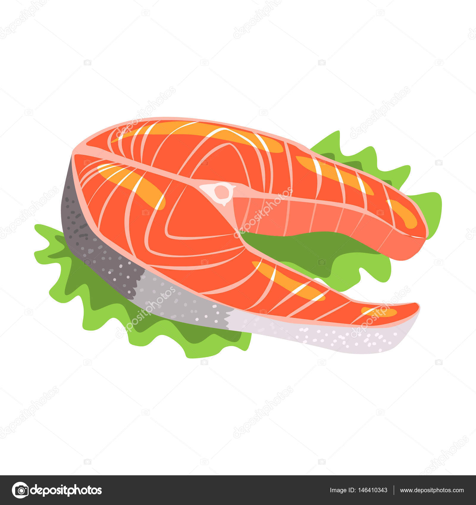 Salmon Fish Steak, Food Item Rich In Proteins, Important Element Of ...