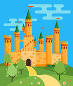 Fotografie FairyTale castle illustration