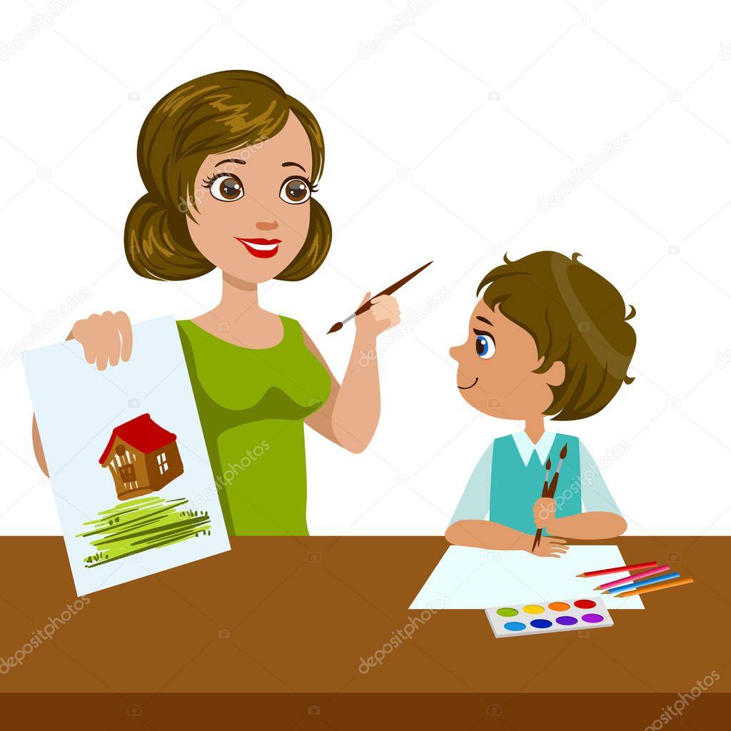 Earn Cash Training On The Net - The Ideal Way To Earn Money From Home! depositphotos_147285719-stock-illustration-teacher-teaching-a-boy-how