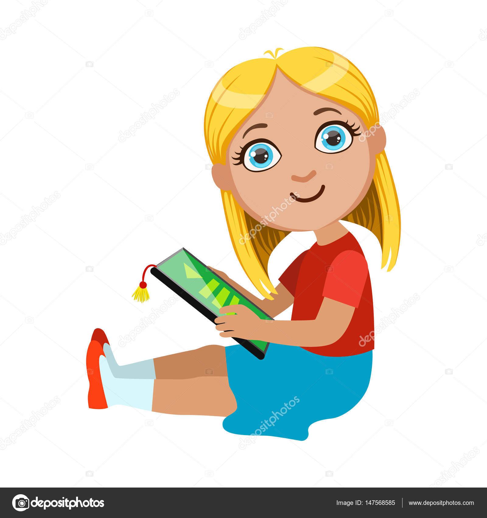 Brond Okuma Elektronik Kitap çocuklar Parçası Ve Vektör çizimler