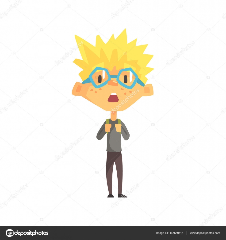 Cartoon Character With Spiky Hair Blond Boy With Spiky Hair And