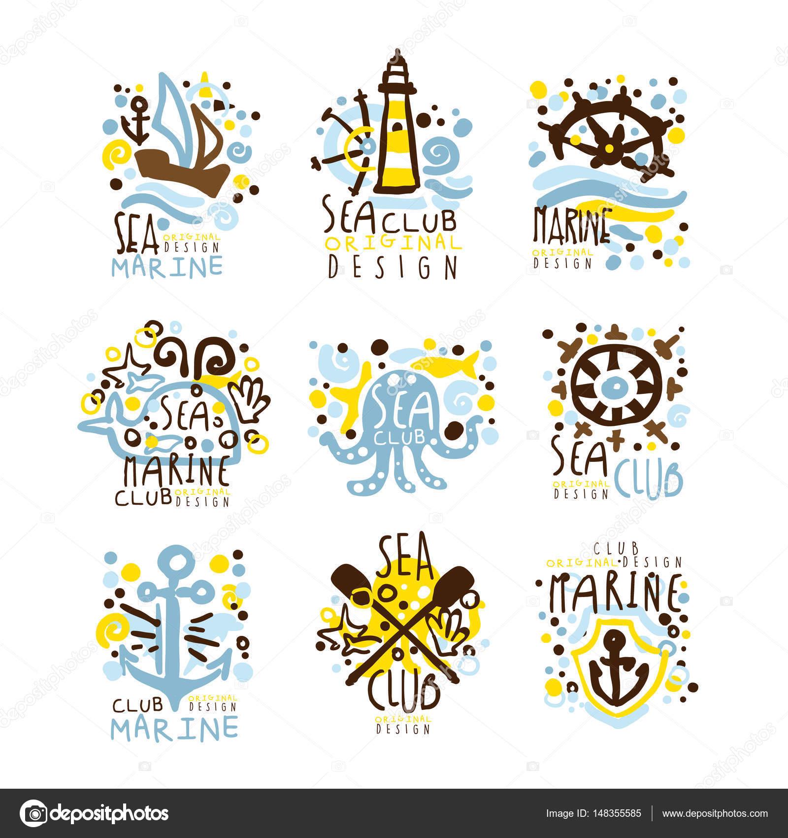 Club de mar Marina club para dise o de etiquetas Club de yates