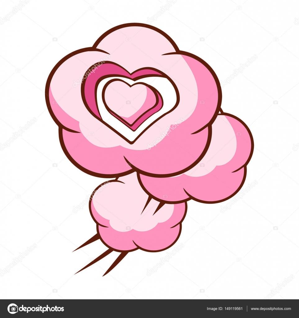 Dibujos Corazones Y Rosas Corazon De Color Rosa En Forma De Nube