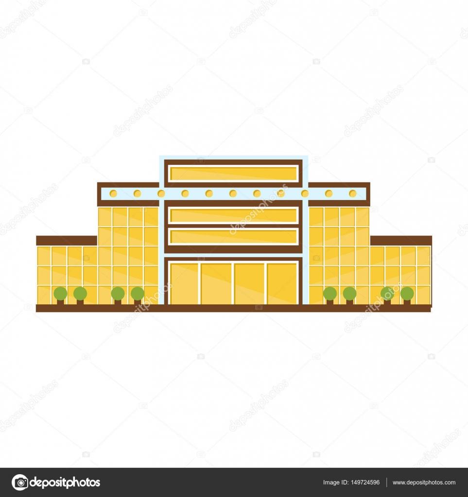 Edel gelb symmetrische Shopping Mall modernes Gebäude Exterieur ...
