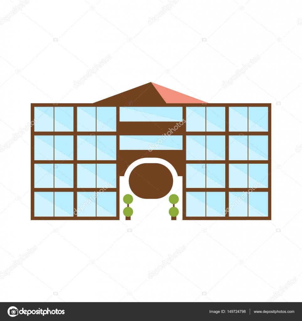 Symmetrische Einkaufszentrum modernes Gebäude Exterieur-Design mit ...