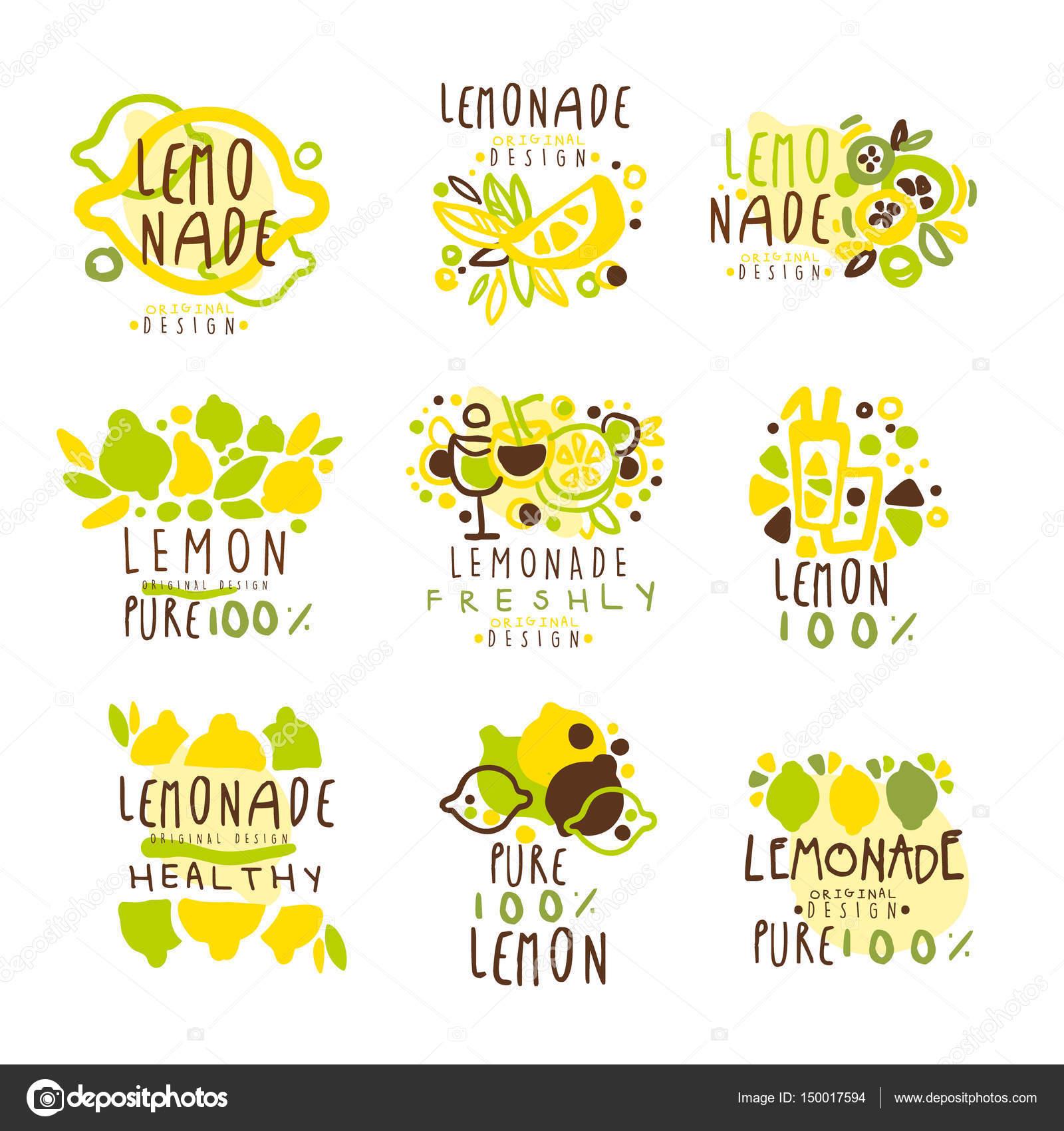 Limonada para dise o de etiquetas Colorido vector ilustraciones