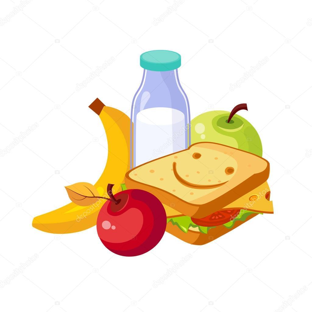Dibujos: dibujo almuerzo | Comida, Sandwich, leche y ...