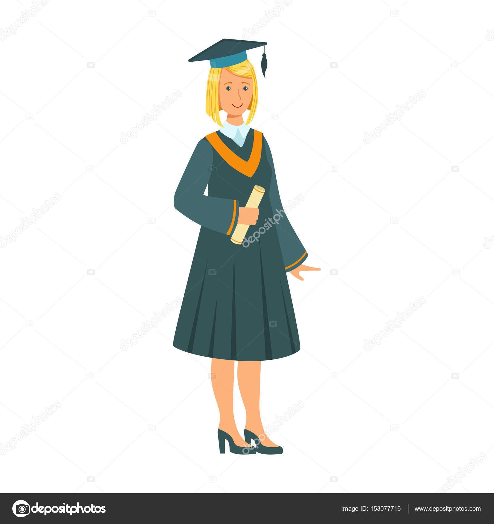 Imágenes Niñas Graduadas Niña Graduada En El Manto