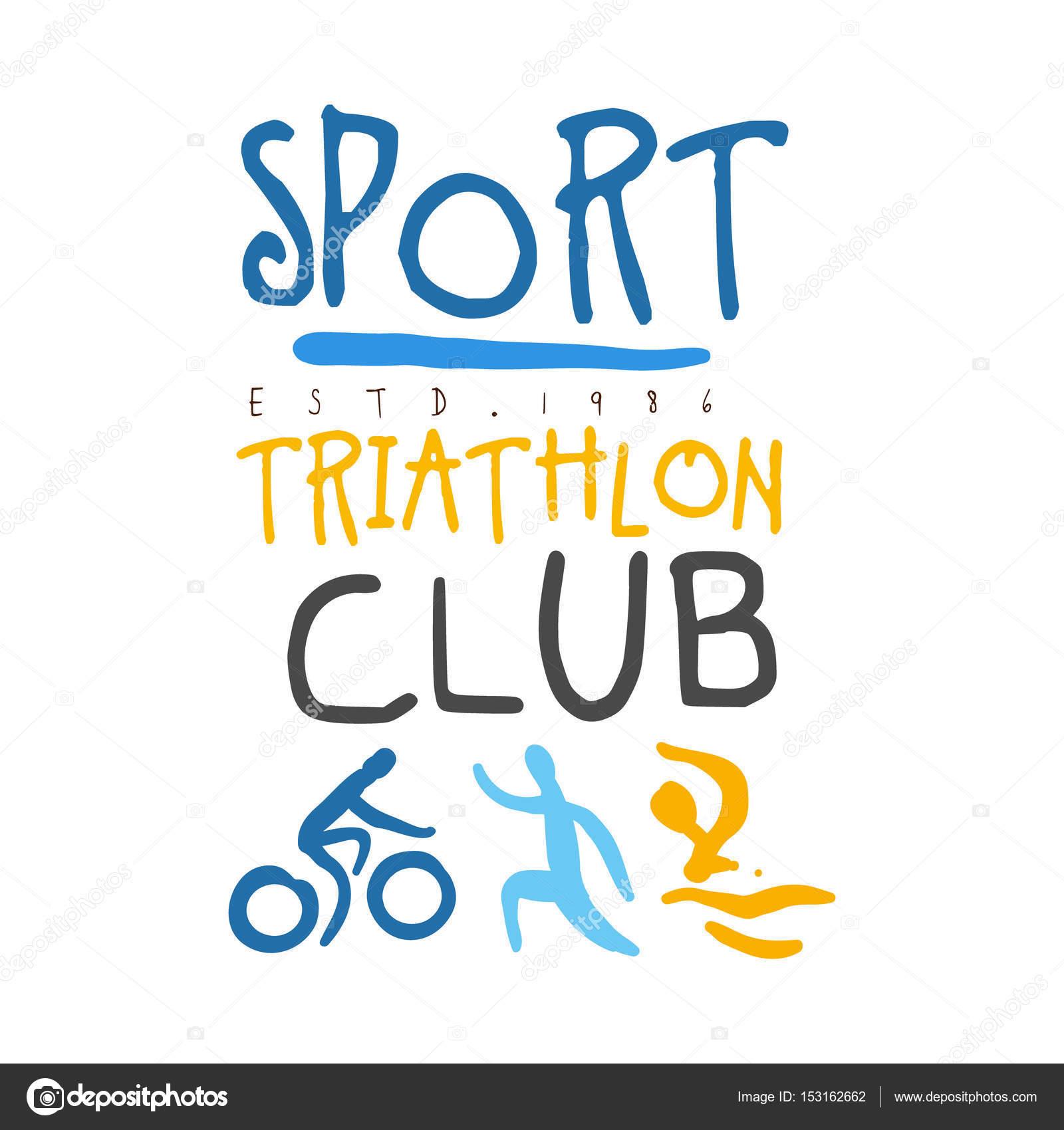 triatlon logos logo de club de triatl243n de deporte