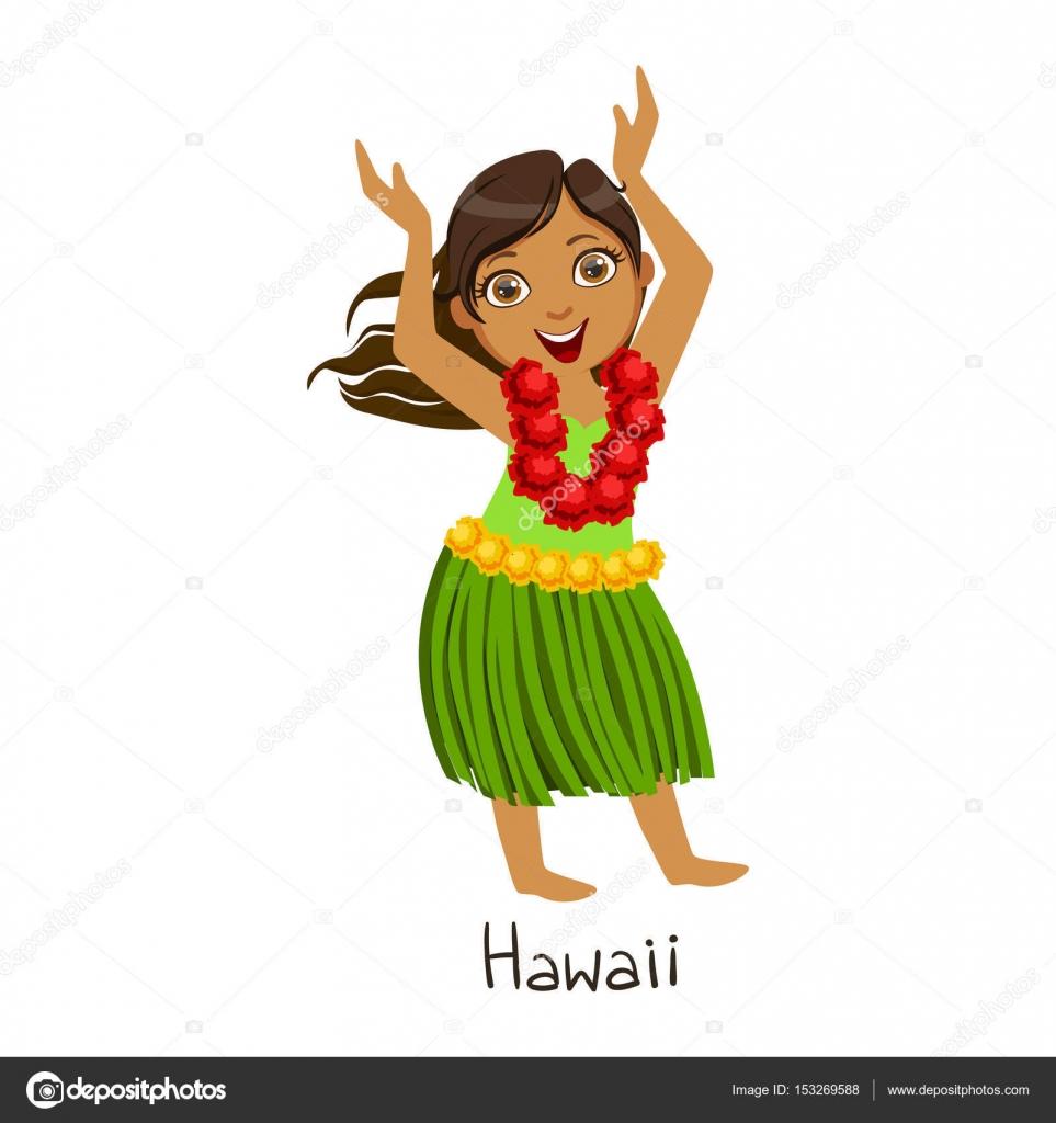 Costume hawaiano color corallo bambina su vegaooparty negozio di