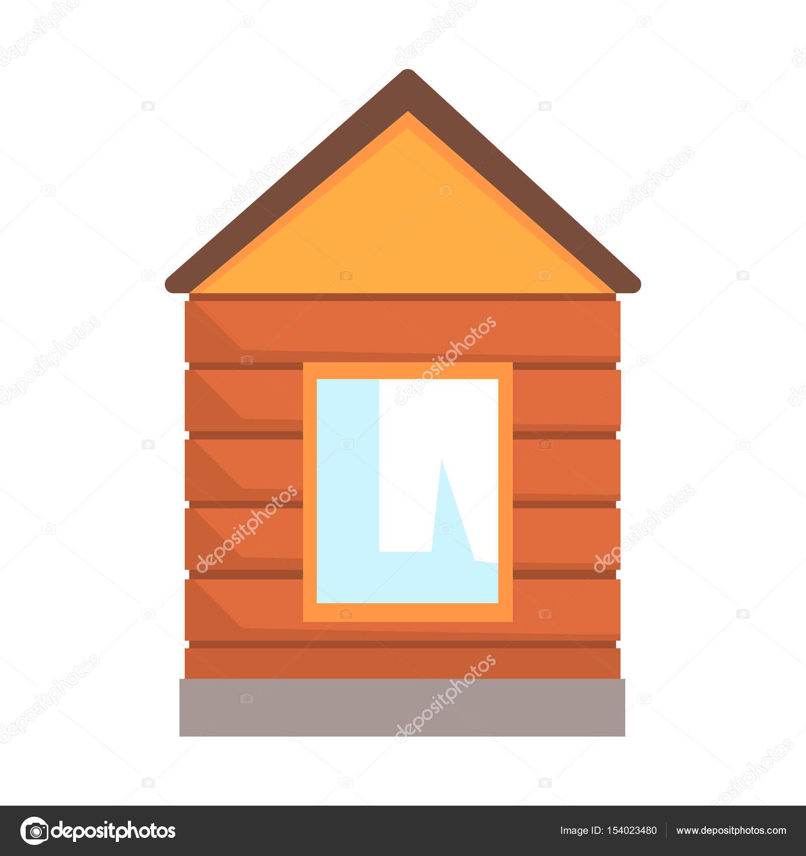 Quiosco de madera peque o usado para el control en un for Fotos de kioscos de madera
