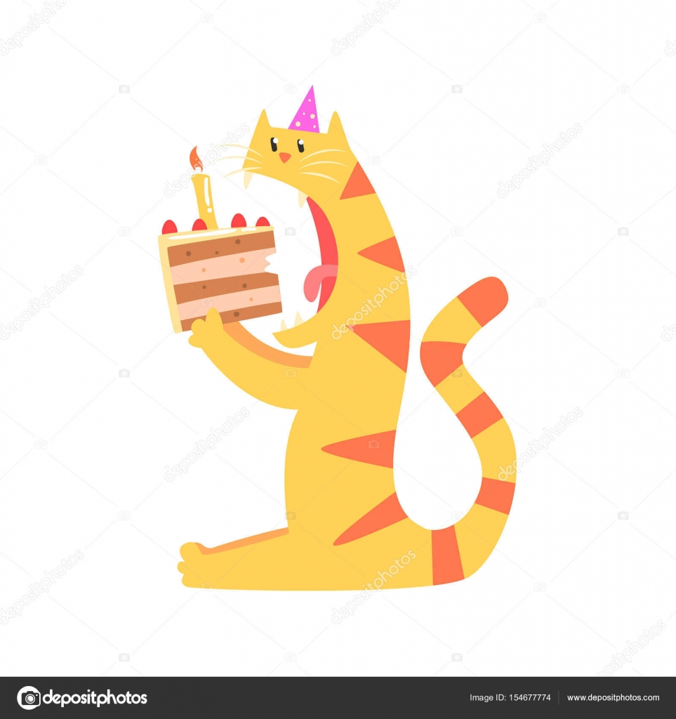 Feliz Cumpleanos Amiga Tigre Tigre De Dibujos Animados Lindo